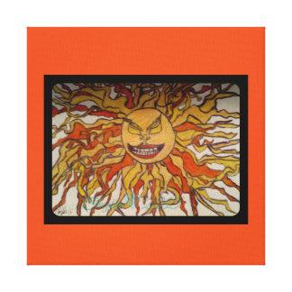 Blazing Sun Wrapped Canvas
