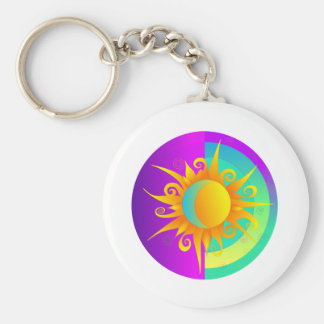 Blazing Sunmoon Purple Keychain