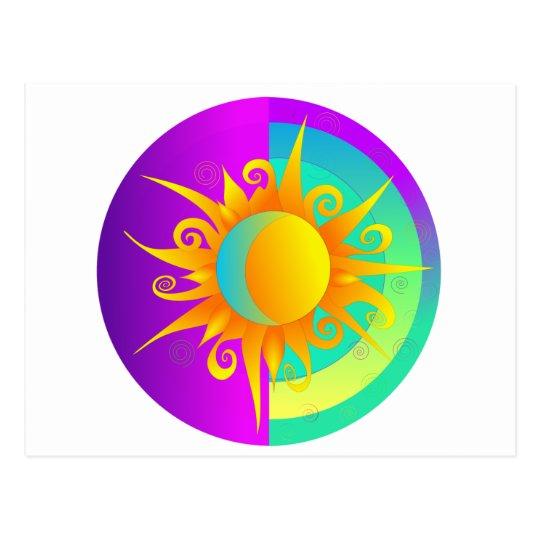 Blazing Sunmoon Purple Postcard