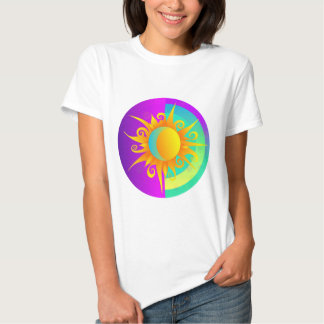 Blazing Sunmoon Purple T Shirt