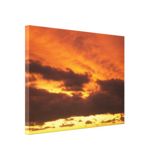 Blazing Sunset by Leslie Peppers Canvas Print