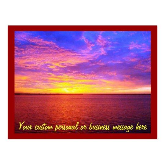 Blazing Sunset Custom Postcard