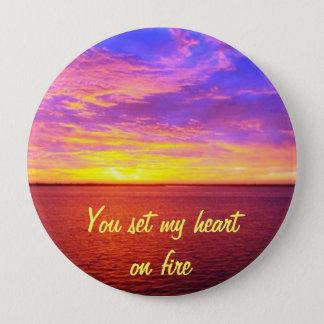 Blazing Sunset Heart on Fire button