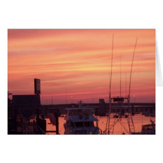 Blazing Sunset, Newburyport, MA Card