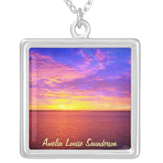 Blazing Sunset Personalized Necklace