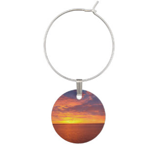 Blazing Sunset Wine Charm