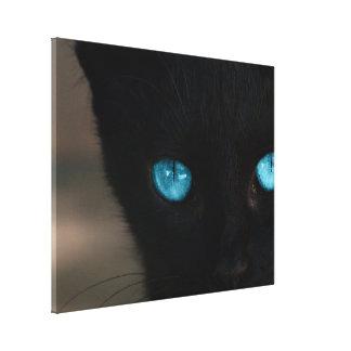 BLCBE Black Cat Blue Eyes Canvas Print