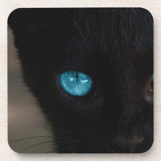BLCBE Black Cat Blue Eyes Drink Coaster