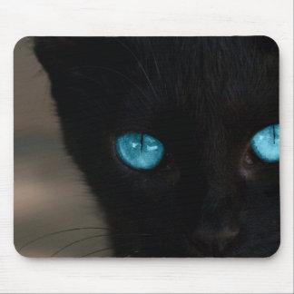 BLCBE Black Cat Blue Eyes Mouse Pad