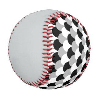 Blck, White and Gray with Gray Baseball