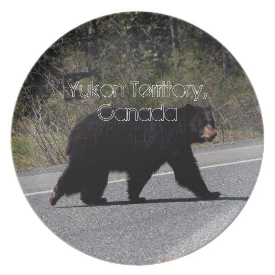 BLCR Bear Crossing Melamine Plate