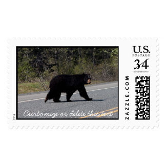 BLCR Bear Crossing Postage Stamp