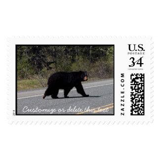 BLCR Bear Crossing Postage Stamp