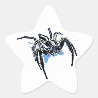Ble de Blaue Spinne Blaue Spinne Araignée del azul Pegatina En Forma De Estrella
