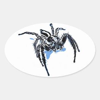 Ble de Blaue Spinne Blaue Spinne Araignée del azul Pegatina Ovalada