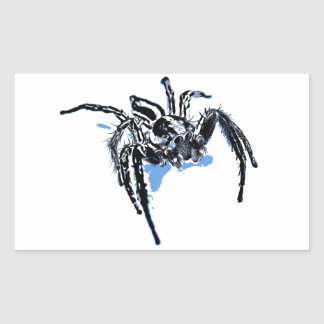 Ble de Blaue Spinne Blaue Spinne Araignée del azul Pegatina Rectangular