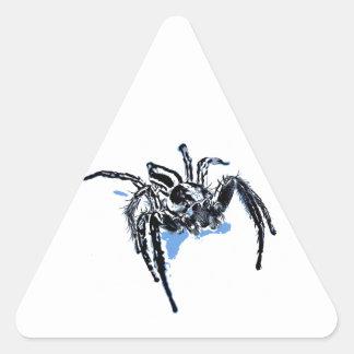 Ble de Blaue Spinne Blaue Spinne Araignée del azul Pegatina Triangular