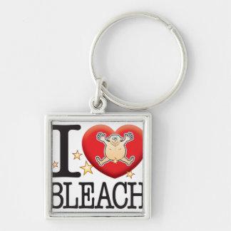 Bleach Love Man Silver-Colored Square Keychain