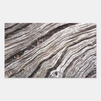 Bleached Australian hardwood of fallen gum tree Rectangular Sticker