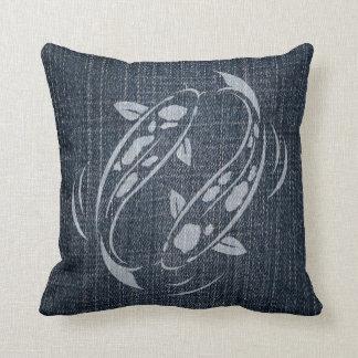 Bleached Denim - Koi Pillows