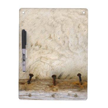 artbyjocelyn Bleached Rustic Old Wood Rusty Photo Dry Erase Board