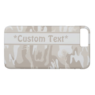 Bleached Wasteland Brown Camo w/ Custom Text iPhone 8 Plus/7 Plus Case