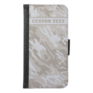 Bleached Wasteland Camo Smartphone Wallet w/ Text