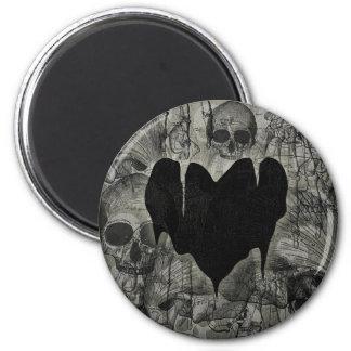 Bleak Heart Gothic Valentine 2 Inch Round Magnet