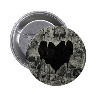 Bleak Heart Gothic Valentine Pinback Buttons