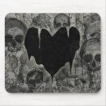 Bleak Heart Gothic Valentine Mouse Pad