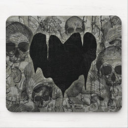 Bleak Heart Gothic Valentine Mouse Pad