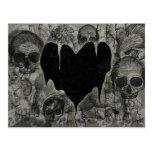 Bleak Heart Gothic Valentine Postcard