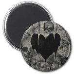 Bleak Heart Gothic Valentine Refrigerator Magnets