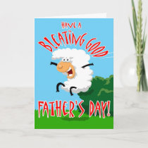 Bleating Good Father's Day Card