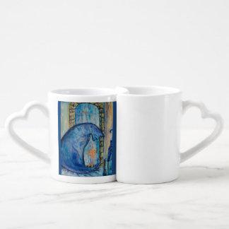 bleau daze couples' coffee mug set