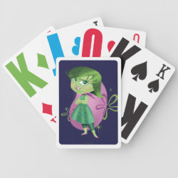 Playing Cards with Disgust of Inside Out design