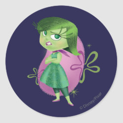 Round Sticker with Disgust of Inside Out design
