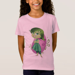 Girls' Fine Jersey T-Shirt with Disgust of Inside Out design