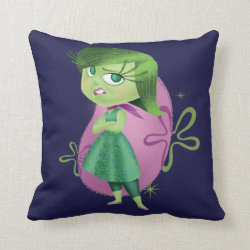 Cotton Throw Pillow with Disgust of Inside Out design