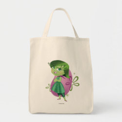 Grocery Tote with Disgust of Inside Out design