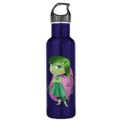 Water Bottle (24 oz) with Disgust of Inside Out design