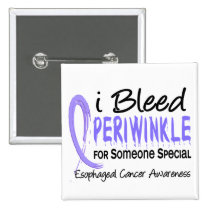 Bleed Periwinkle Someone Special Esophageal Cancer Button