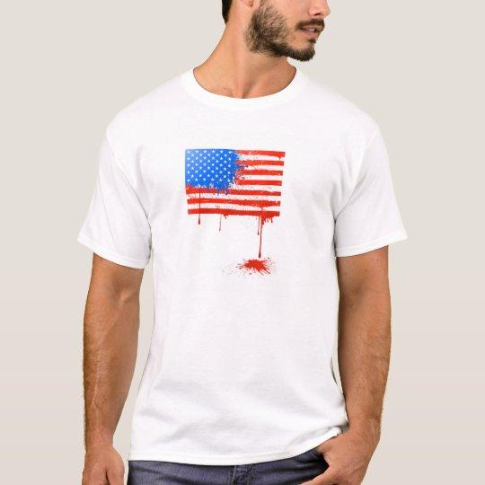 Bleeding American Flag T-Shirt
