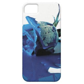 Bleeding blue rose iPhone SE/5/5s case