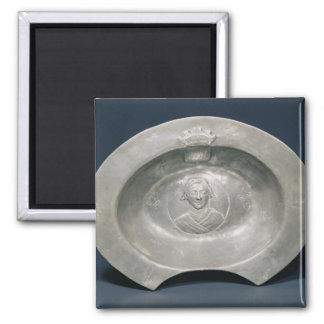 Bleeding bowl, French, 15th century, pewter 2 Inch Square Magnet