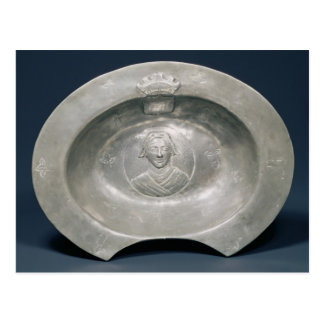 Bleeding bowl, French, 15th century, pewter Postcard