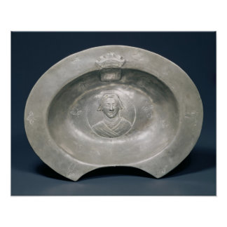 Bleeding bowl, French, 15th century, pewter Posters