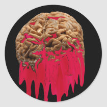 Bleeding Brain-sticker Classic Round Sticker