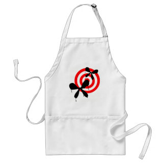 Bleeding Butterfly: Bullseye Adult Apron