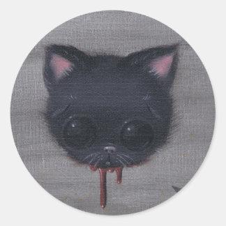 bleeding cat stickers